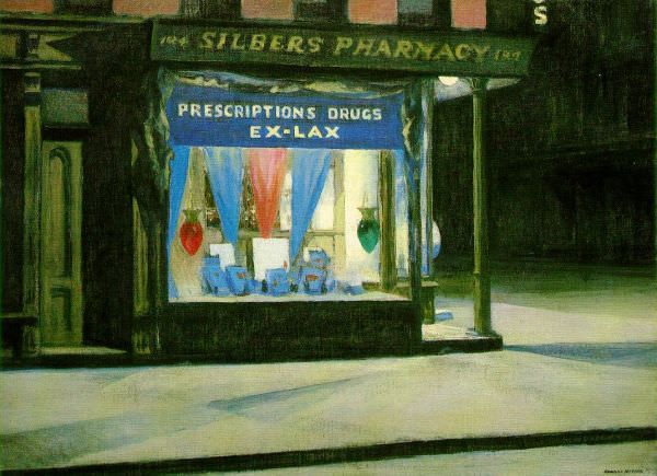 Edward Hopper: Drug Store