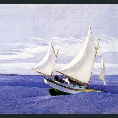 Edward Hopper: Yawl Riding a Swell